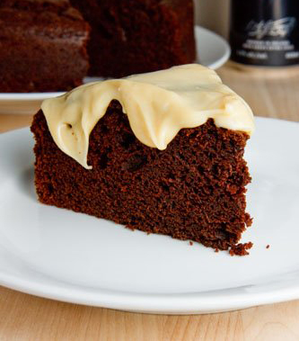 Chocolate Stout Cake with Bailey's Cream Cheese Frosting 500